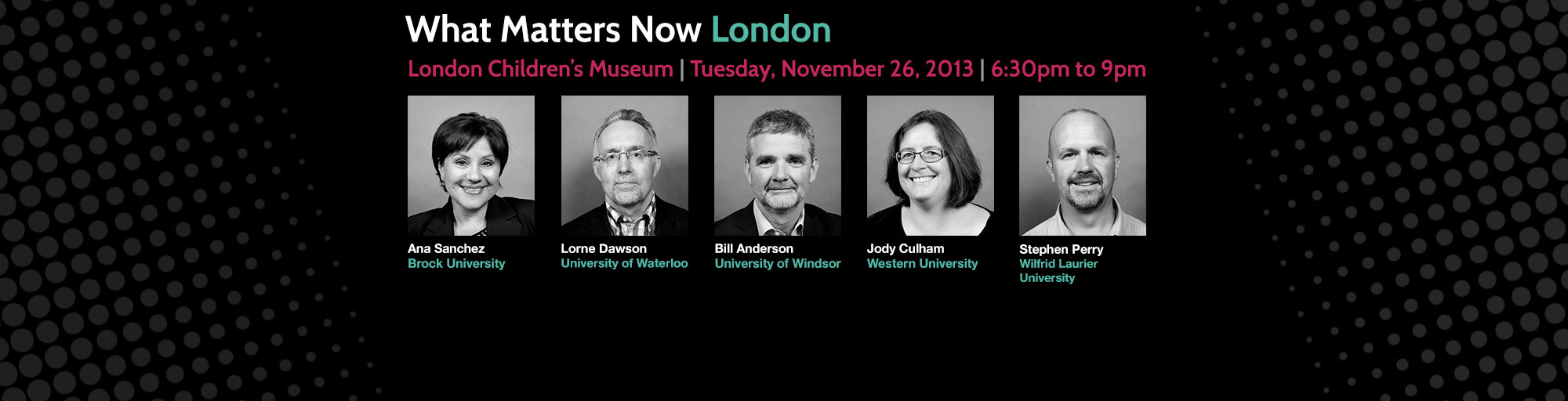 What Matters Now London Video Podcast