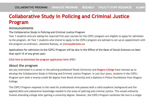Collaborative Study in Policing and Criminal Justice