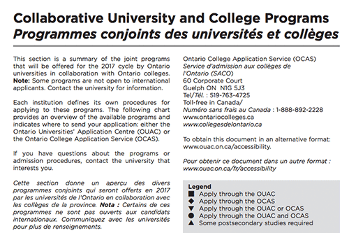 Collaborative University and College Programs