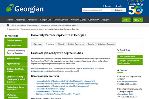 Georgian College University Partnership Centre