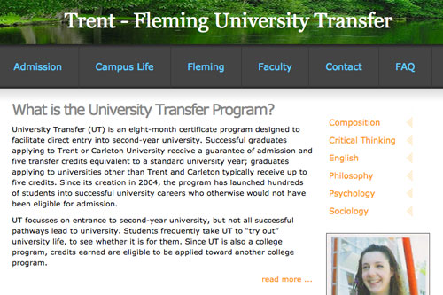 Partnership between Fleming College and Trent University