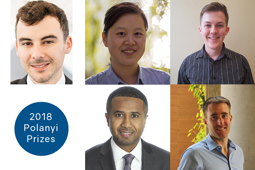 Five outstanding Ontario researchers honoured in the 2018 Polanyi Prizes