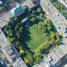 Aerial view of the Ryerson campus