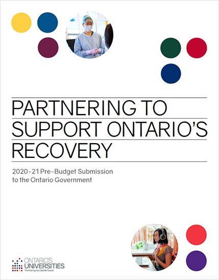 Partnering to Support Ontario's Recovery cover image