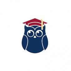 Ever Scholar logo is an owl with a graduation cap