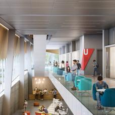 Inside the York University School of Continuing Studies building