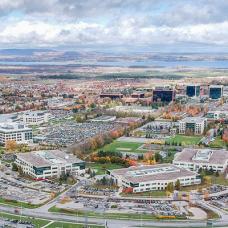 Aerial shot of the uOttawa campus
