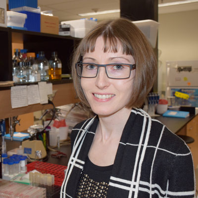Melanie Wills, director of the G. Magnotta Lyme Disease Research Lab at U of G