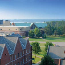 Algoma University Campus aerial shot