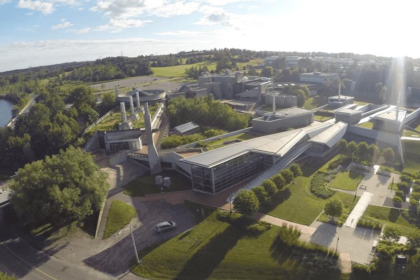 Aerial view of Ontario university campus