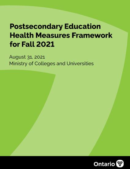 PSE health measures framework for fall 2021